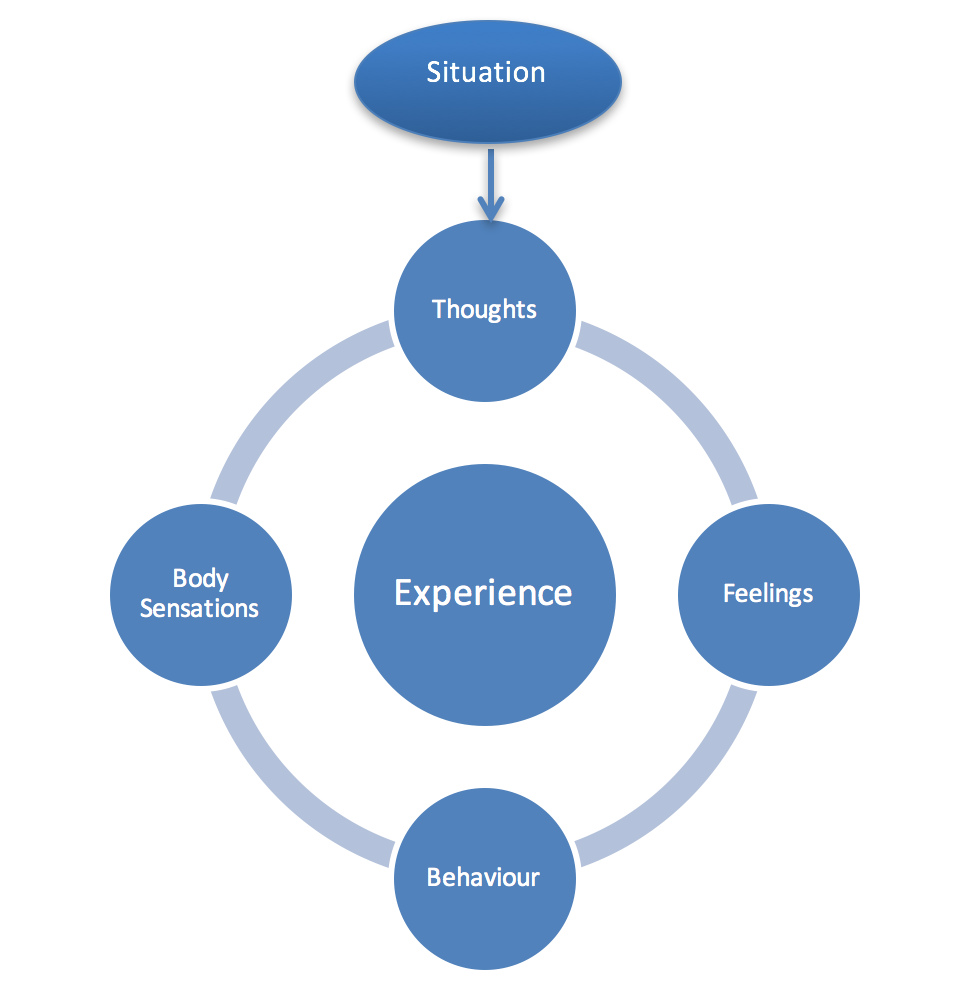 Diagram explaining experience and feelings